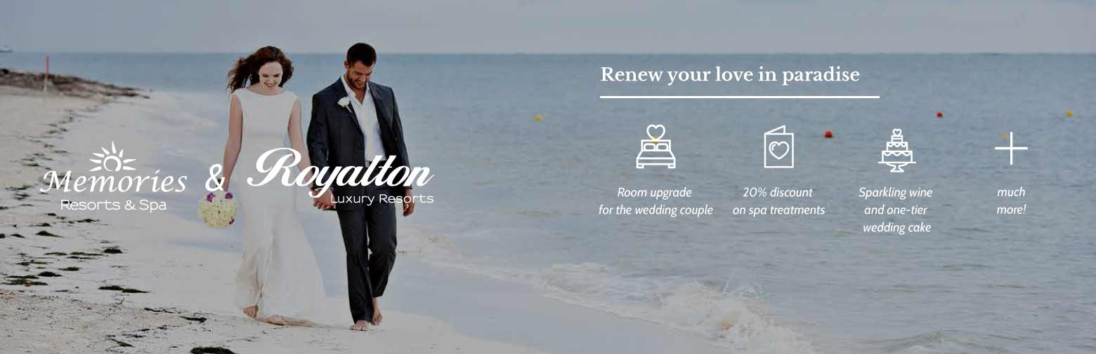 Vow Renewal Offers, Resorts Deals for Vow Renewal